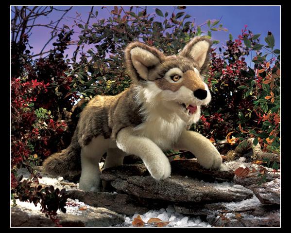 Grey Wolf Puppet